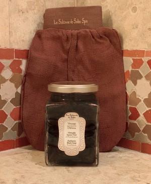 Черное мыло для лица и тела